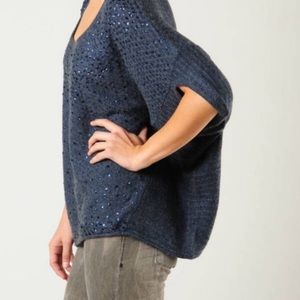 Free People Stardust Sequin Batwing Sweater